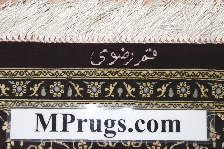 Twin silk qom Persian rug runners; pure silk twin Qum Persian carpets. Genuine pure silk qom Persian rugs