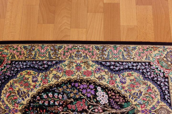 3x2 700 kpsi qum Persian rug, signed qom carpet
