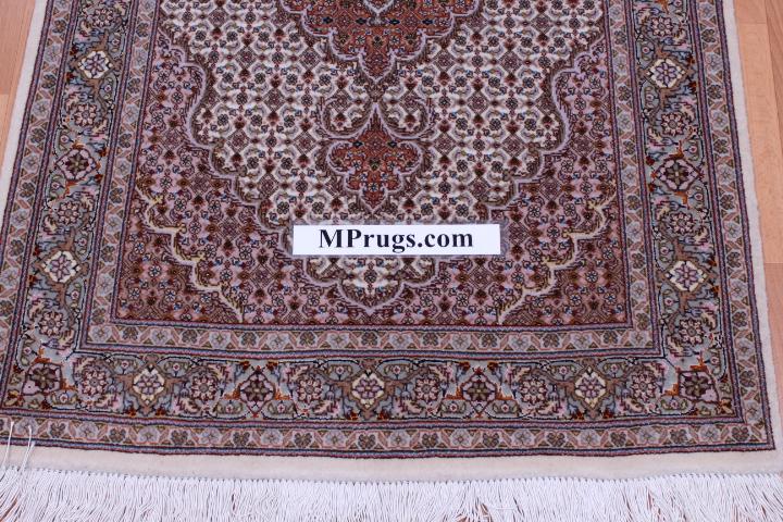 Tabriz Pirouzian Runner Persian Rug Mahi Carpet Made Of The Finest Kurkwool Silk