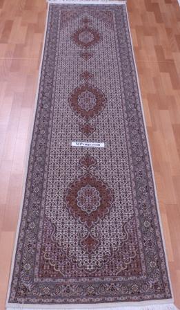 9' 3m Pirouzian Mahi Tabriz Persian rug