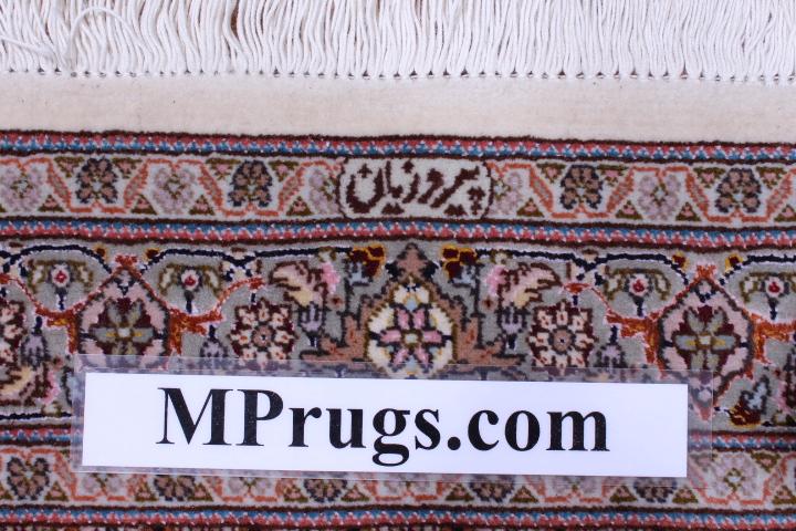 Tabriz Pirouzian runner Persian rug; Mahi Persian Carpet made of the finest kurkwool/silk.