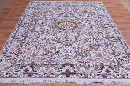 10x7 3x2m metal Tabriz Persian rug; rare Persian carpet with a metal foundation. metal persian rug