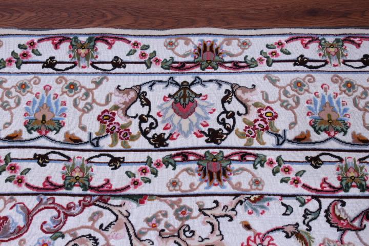 10x7 3x2m metal Tabriz Persian rug; rare Persian carpet with a metal foundation. metal persian rug