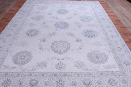 8x11 silk foundation 60 Raj Tabriz Persan rug