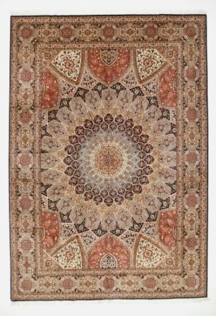 Large 11x8 Gonbad Tabriz Persian rug. Dome Design Gombad Tabriz Persian carpet.