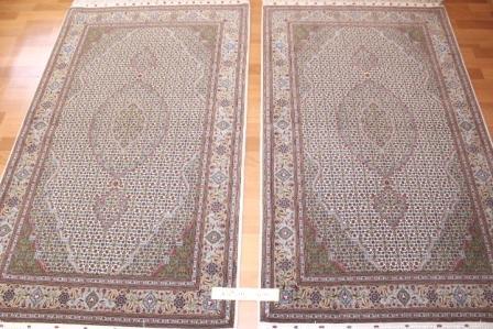 twin tabriz persian rugs. 800 kpsi tabriz twin carpets