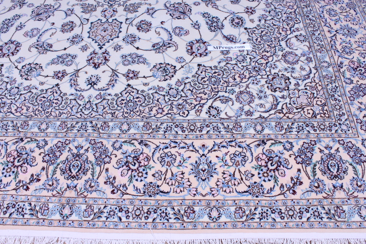 14x10 Nain Persian rug with silk 6Lah 500KPSI