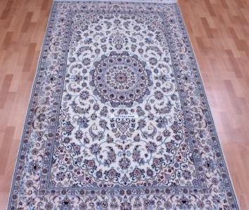 Square Nain 6Lah Persian rug. Very fine square Nain Persian carpet with lots of silk highlights.