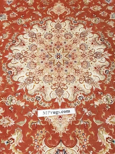 10x7 Tabriz Silk 55Raj Persian Rug