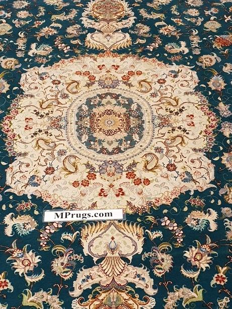 10x7 Tabriz Silk 60Raj Persian Rug