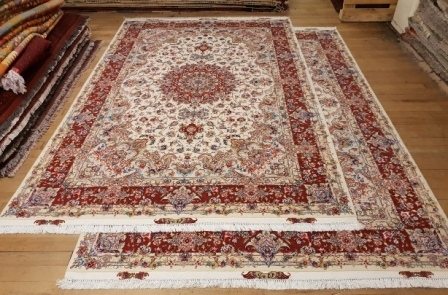 10x7 TWIN Tabriz Silk 55Raj Persian Rugs