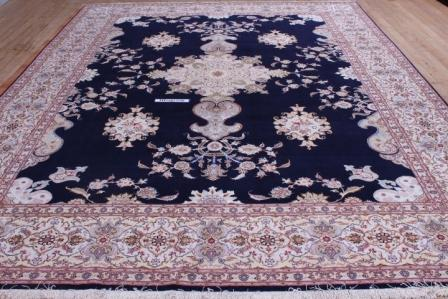 10x13 400kpsi handmade silk foundation Tabriz Persian rug