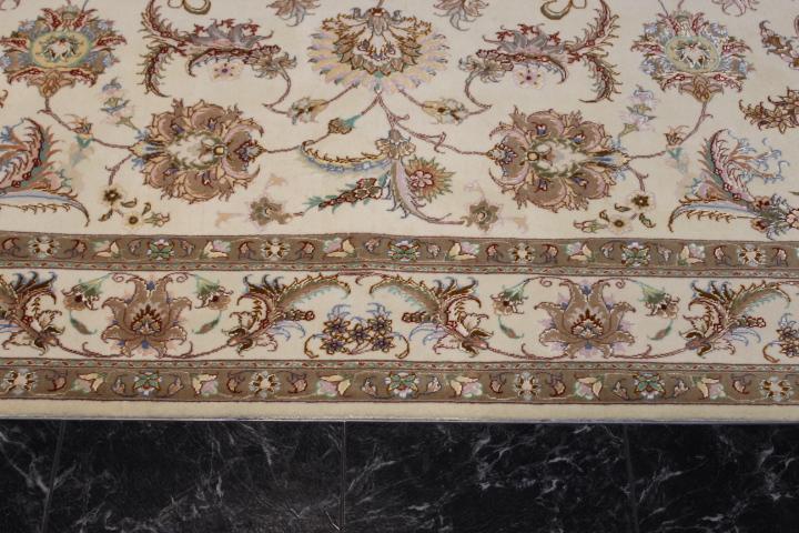 7x5 Faraji Tabriz Persian rug, 350 KPSI 50 raj handmade Tabriz carpet.
