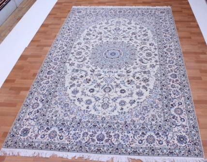 Nain 6 LAH Persian rug #5156 with 500 KPSI, Nain silk 10x8 Habibian Persian carpet.