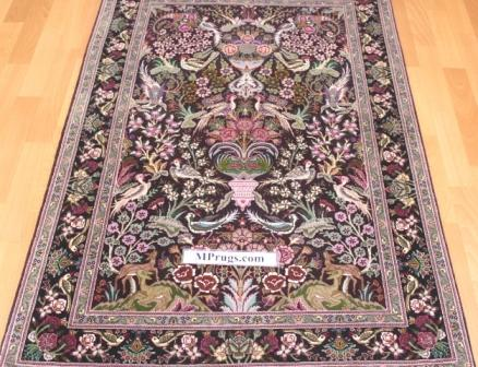 Tree-of-Life pictorial Tabriz Persian rug