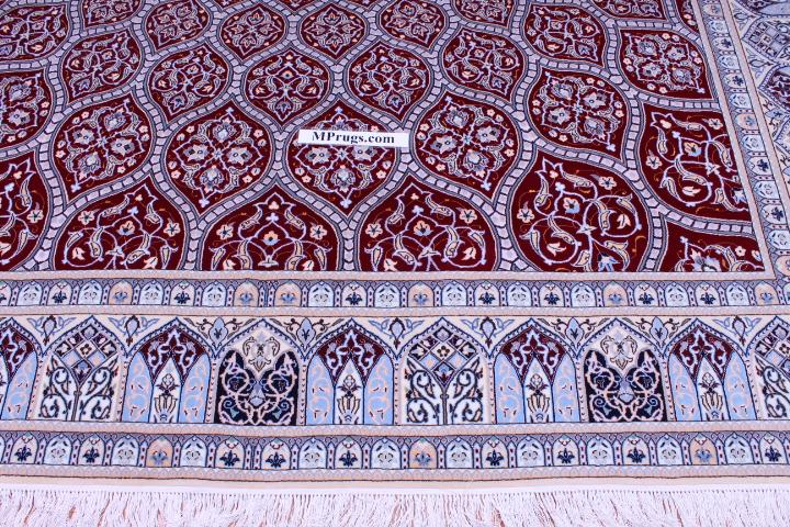 10x7 Nain Persian rug 6La 500 kpsi