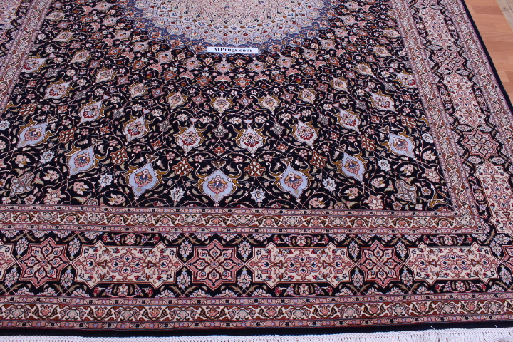 5x7 Gonbad Tabriz Persian rug. Dome Design Gombad Tabriz Persian carpet.
