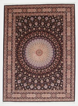 Large 11x8 Gonbad Tabriz Persian rug. Dome Design Gombad Tabriz Persian carpet.