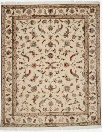 50 Raj Tabriz Faraji Persian rug with silk. 8x6 Faraji Tabriz Persian carpet.