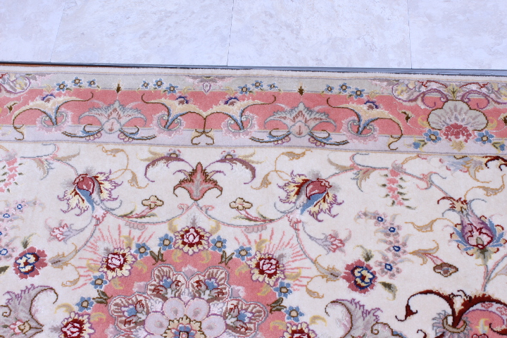 Twin 13' 4m high quality Tabriz Persian rugs