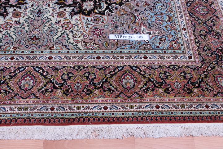 65 Raj 600 KPSI 8x11 Silk Foundation Tabriz Persan rug