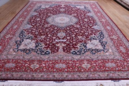 10x13 600kpsi 70 Raj silk foundation Tabriz Persian rug