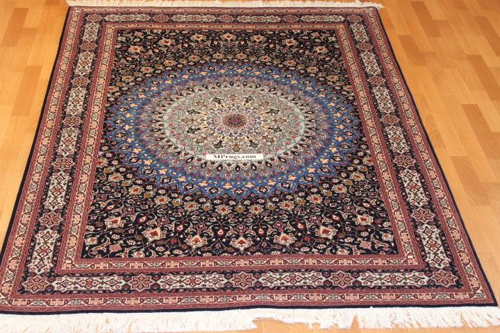 7x5 Gonbad Tabriz Persian rug, 350 KPSI 50 raj Gombad Tabriz carpet.