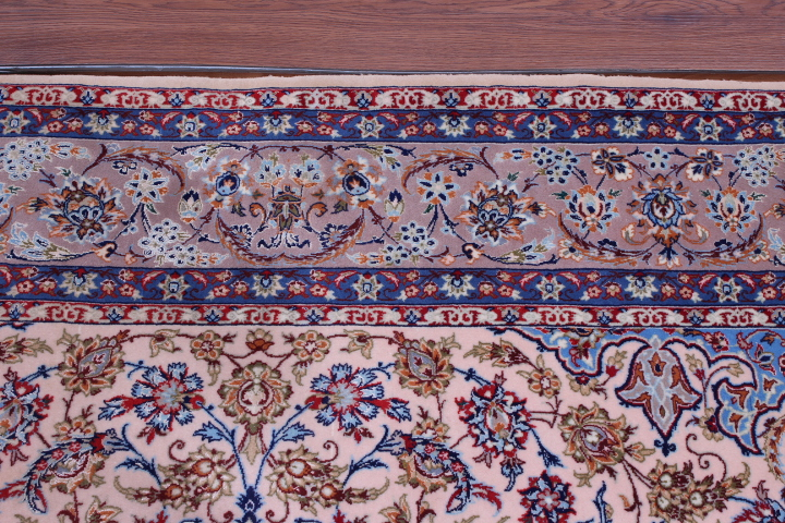 8x5 Isfahan Persian rug, silk Isfahan carpet