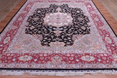 70 Raj 600 KPSI 8x11 Silk Foundation Tabriz Persan rug