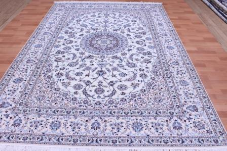 10x7 (3x2m) Nain 6la persian rug with 500 kpsi