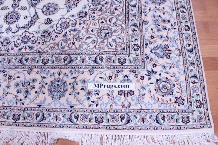 10x7 Nain 6la persian rug with 500 kpsi