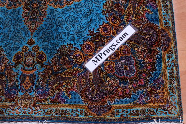 3x5 900 kpsi Kazemi qum Persian rug with signature; 1x1,5m Kazemi Qom silk carpet masterpiece