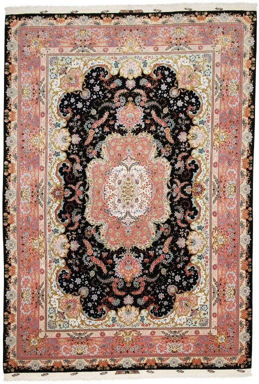70 Raj Tabriz Persian Rug With A Silk Foundation Masterpiece Carpet