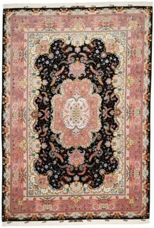 70 Raj Tabriz Persian rug with a silk foundation. Masterpiece Tabriz Persian carpet.