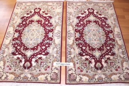 twin tabriz persian rugs. 4x2 tabriz twin carpets
