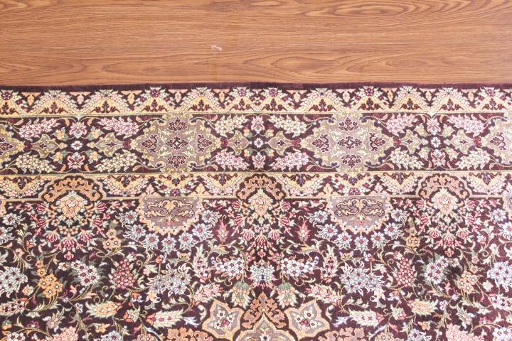5x3 silk qom Persian rug with 800kpsi pure silk Qum Persian carpet. Genuine pure silk qom Persian rug