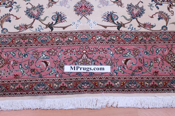 50 Raj 10x7 Tabriz Persian rug with 350 KPSI. 3mx2m handmade Tabriz Persian carpet.