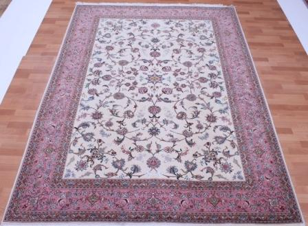 50 Raj 10x7 Tabriz Persian rug with 350 KPSI. 3mx2m handmade Tabriz Persian carpet.
