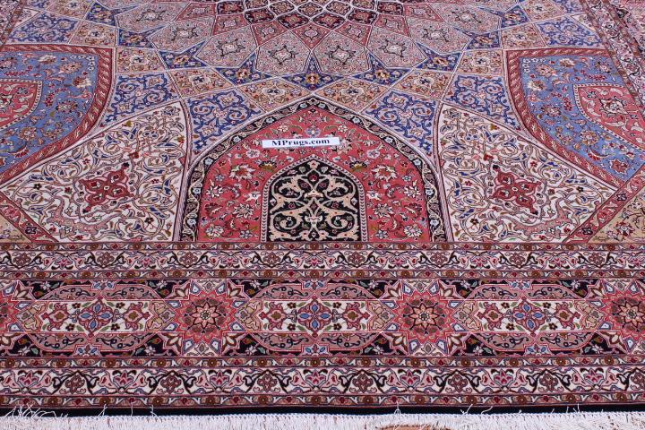 10x13 Tabriz Gonbad Persian Rug with 400 KPSI