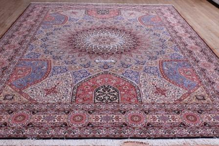 10x13 Tabriz Gonbad Persian Rug with 400 KPSI