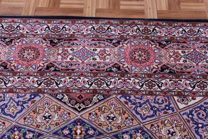 Large 10x13 Tabriz Gonbad Persian Rug with 400 KPSI