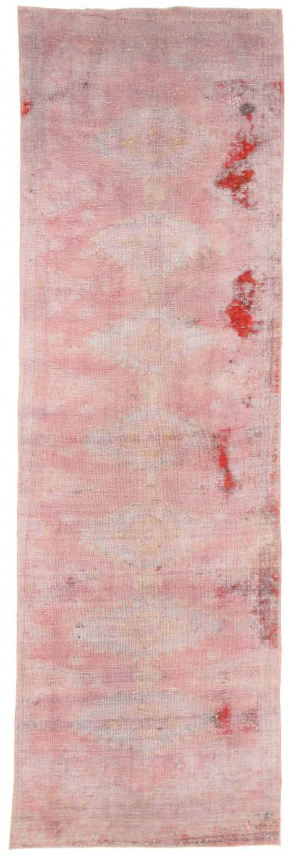 10x3 Vintage Persian Rug runner, 3x1m red persian vintage distressed persian carpet