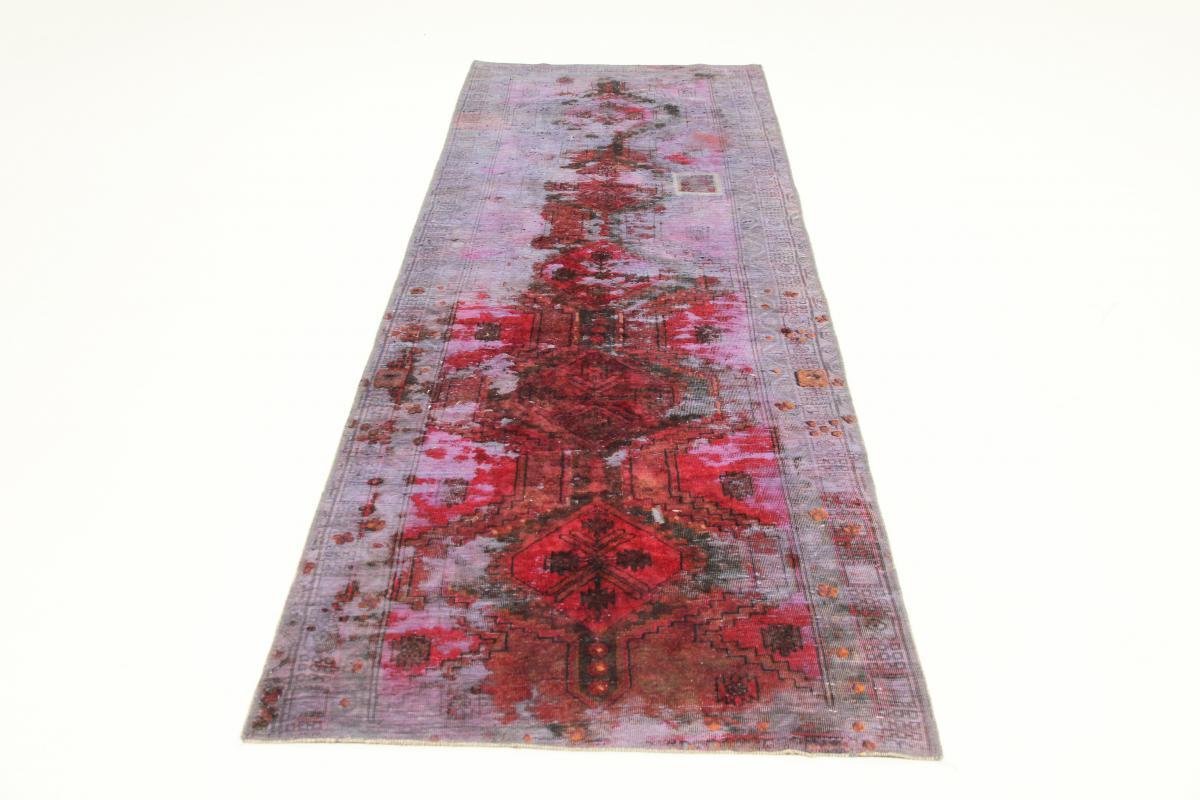Vintage Persian Rug, 10x3 persian vintage distressed persian carpet