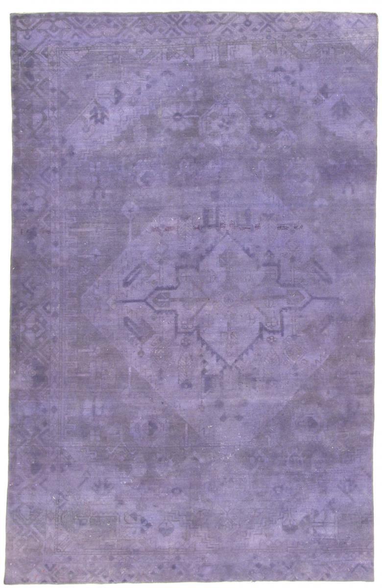 light blue purple Vintage Persian Rug, blue light persian vintage distressed persian carpet