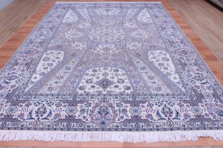 12x8 Nain Persian rug with a Gonbad design and ~500 KPSI