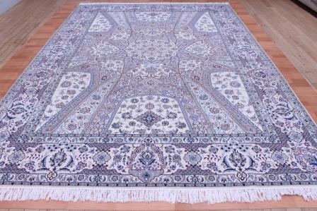 12x8 Nain Persian rug with a Gonbad design and ~500 KPSI