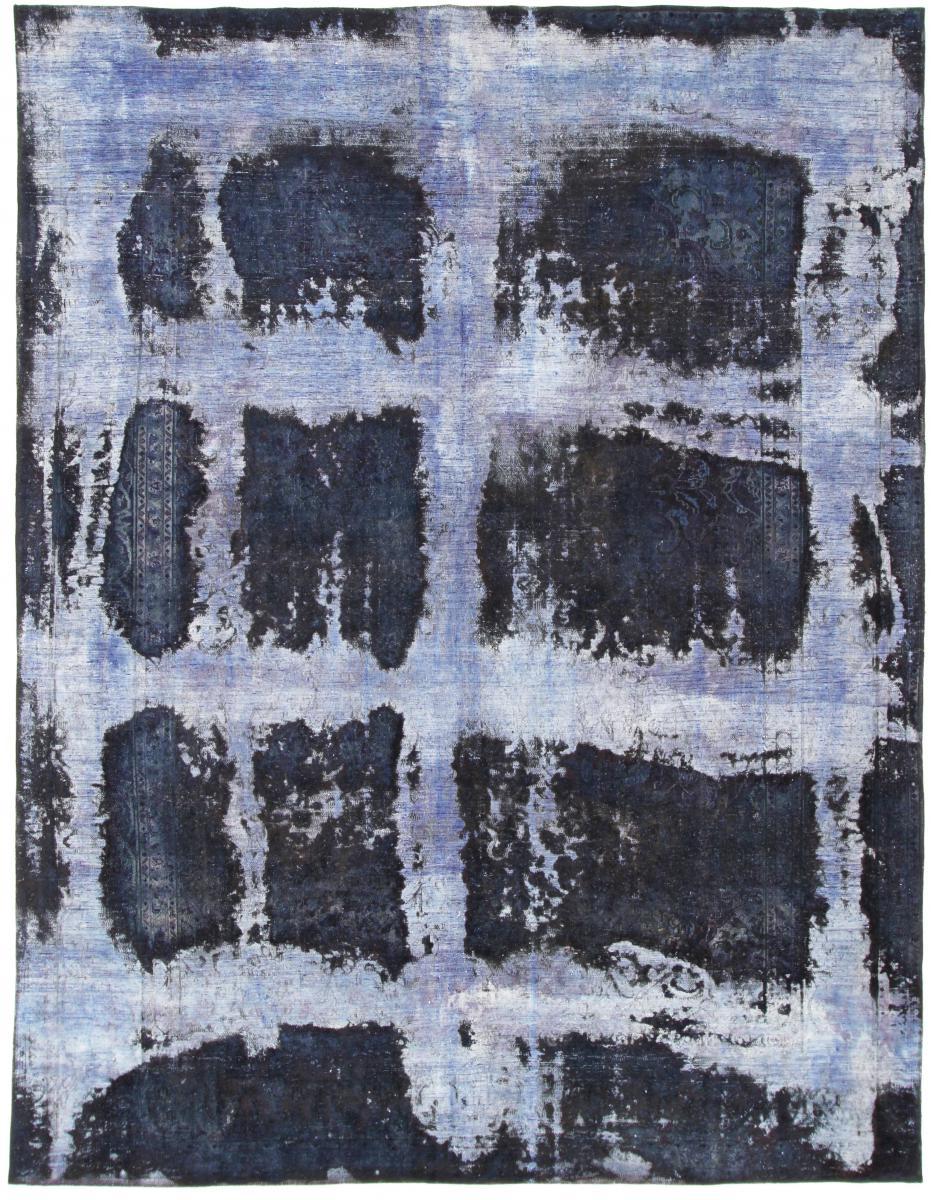 12x9 Vintage Persian Rug, 3,5m by 2,5m blue persian vintage distressed persian carpet