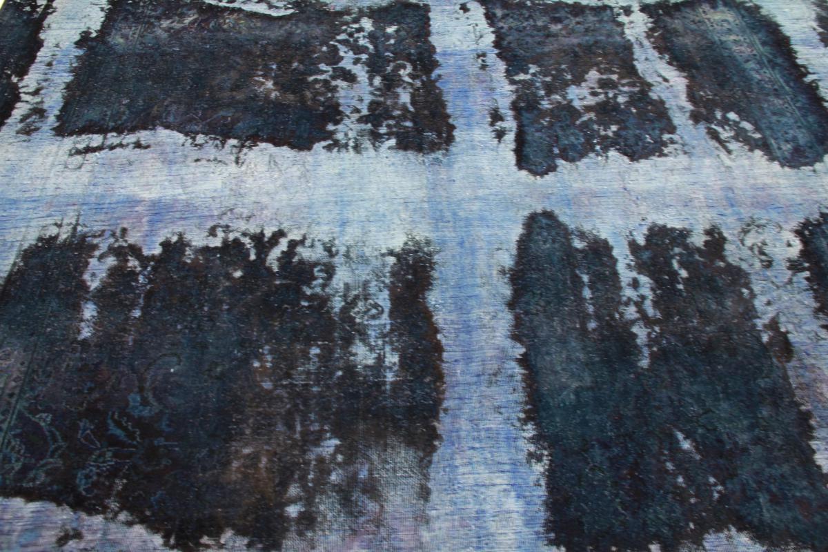 12x9 Vintage Persian Rug , 3,5m by 2,5m blue persian vintage distressed persian carpet