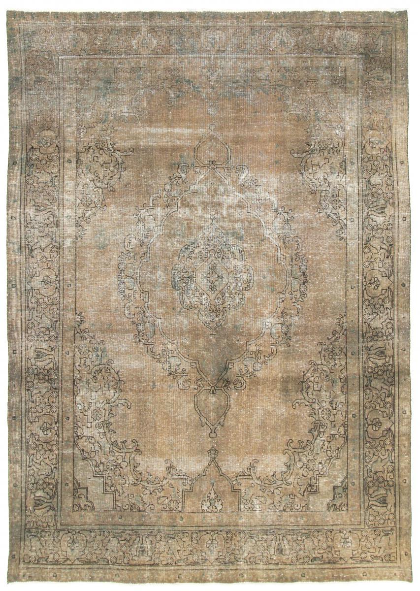 11x8 Vintage Persian Rug, 3,5m by 2,5m light persian vintage distressed persian carpet