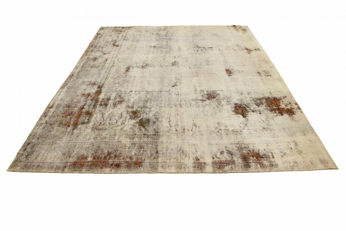 10x8 Vintage Persian Rug, 3.1mx2.6m beige brown persian vintage distressed persian carpet